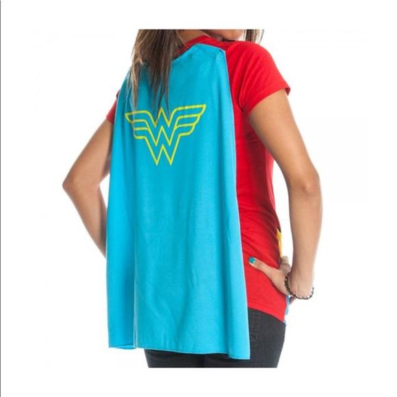 eba673d7 DC Comics Tops | Dc Comic Girls Wonder Woman Glitter Vneck Tee ...